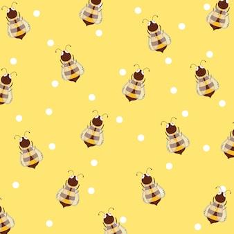 Abelhas e fundo de mel