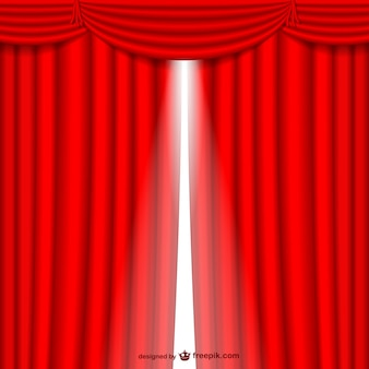 Abertura da cortina vermelha