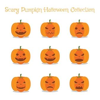 Abóbora assustadora enfrenta conjunto de coleta de halloween