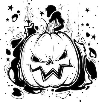 Abóbora com cara de halloween