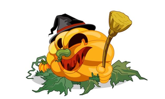 Abóbora de halloween amarelo