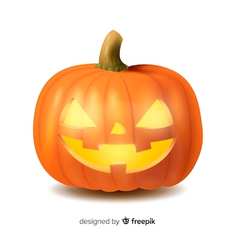 Abóbora de halloween assustador realista