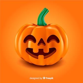 Abóbora de halloween bonito realista