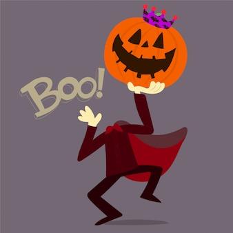 Abóbora de halloween com coroa
