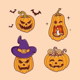 Abóbora de halloween desenhada à mão