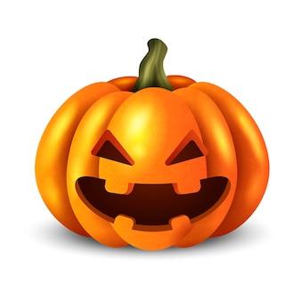 Abóbora de halloween fofa realista
