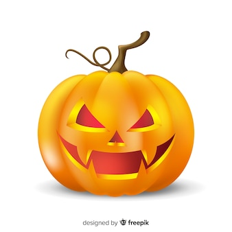Abóbora de halloween mal realista