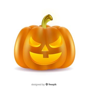 Abóbora de halloween malvada realista