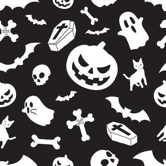 Abóbora de halloween padrão sem emenda