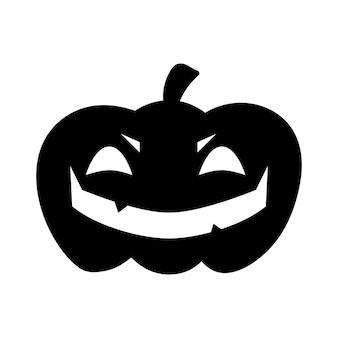 Abóbora de halloween plana clipart, ilustração vetorial de estoque. mão desenhada silhueta preta para decoração, cartão, corte, logotipo ou design de camiseta.