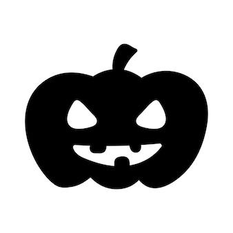Abóbora de halloween plana clipart, ilustração vetorial de estoque. silhueta negra desenhada à mão para decoração