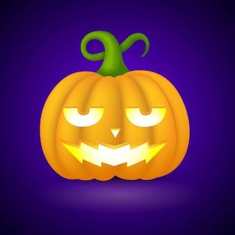Abóbora de halloween realista