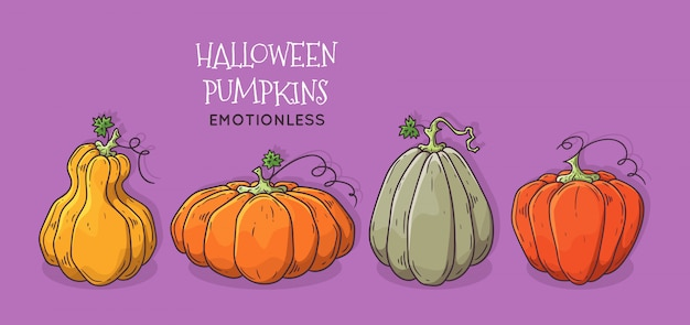 Abóbora de halloween realista.