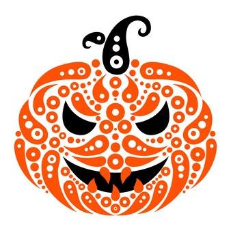 Abóbora de halloween. silhueta de padrão decorativo de abóbora