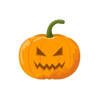 Abóbora irritada de halloween dos desenhos animados.