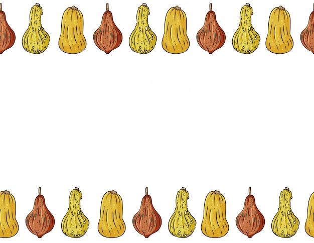 Abóboras bonitos dos desenhos animados sem costura de fundo