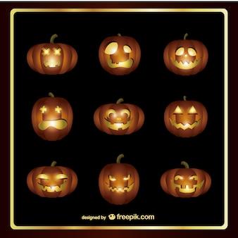 Abóboras de halloween assustador