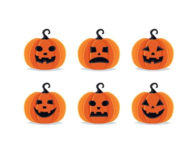 Abóboras de halloween, coleção assustadora de jack o lantern