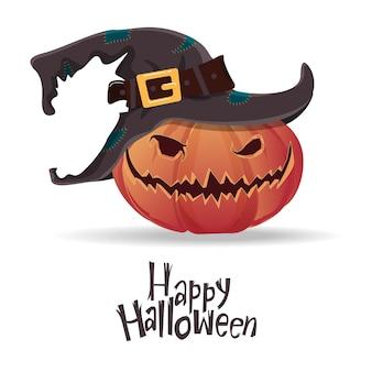 Abóboras de halloween com caretas assustadoras