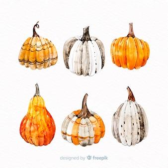 Abóboras de halloween em tons de laranja