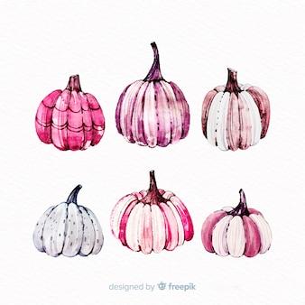 Abóboras de halloween em tons de rosa