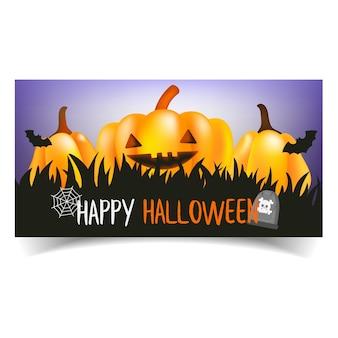 Abóboras de halloween feliz.