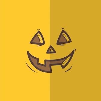 Abóboras de halloween rostos esculpidos silhuetas preto isolado rosto de abóbora de halloween