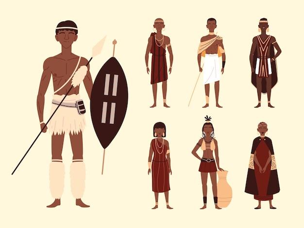 Aborígine masculino e feminino