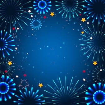 Abra a caixa branca com um presente. ícone em um fundo azul. Vetor Premium