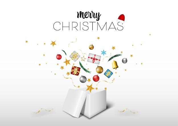 Abra a caixa branca com um presente. ícone em um fundo branco.