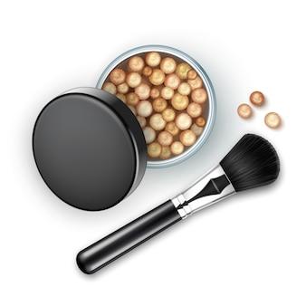 Abra a caixa bronzing pearls com black cap rouge balls