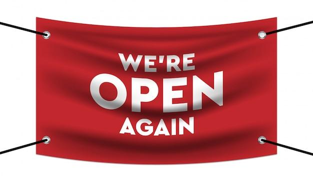 Abra novamente o modelo de banner de design realista.