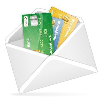 Abra o envelope com cartões de crédito