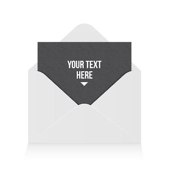 Abra o envelope de papel, mensagem, correio, e-mail.