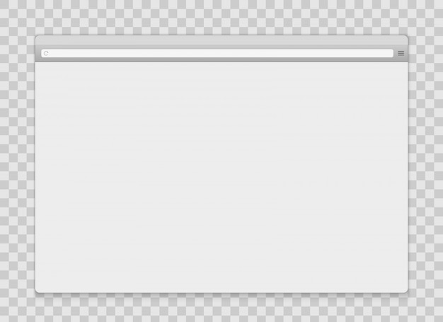 Abra o fundo do navegador da janela de internet.