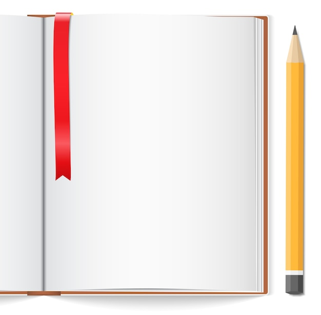 Abra o livro com marcador e lápis