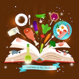 Abra o livro de culinária