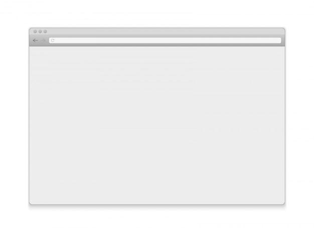 Abra o navegador da janela da internet