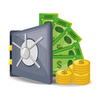 Abra seguro com muito dinheiro economizado