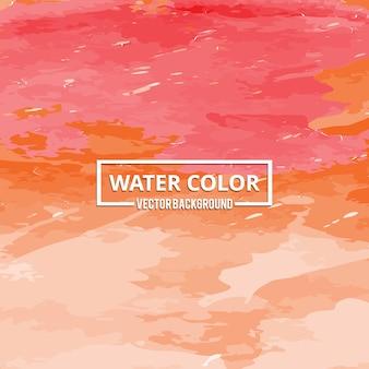 Abrigo de aquarela abstrato gota de aquarela vermelha e laranja