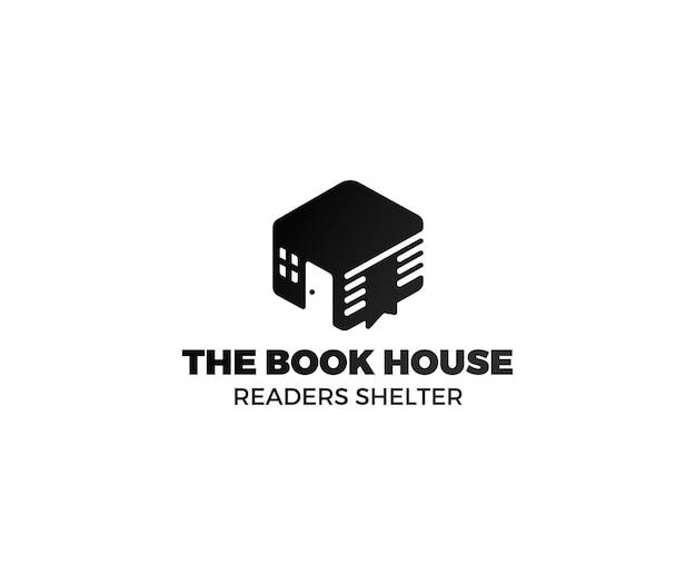 Abrigo de leitores de logotipo de livro gradiente