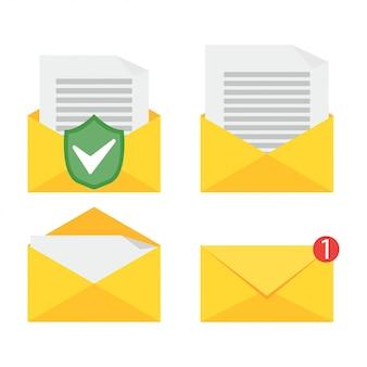 Abrindo um email.