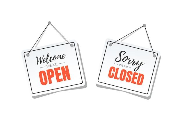 Abrir e fechar letreiros