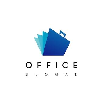 Abrir vetor de design de logotipo de documento de bolsa de escritório