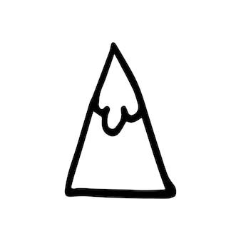 Absctract nordic design mountain para decoração de interiores, impressão de pôsteres, cartão grande, banner de negócios, embalagem em estilo escandinavo moderno em vetor