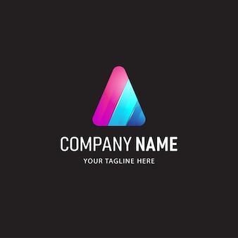 Absract colorido logotipo design ilustração