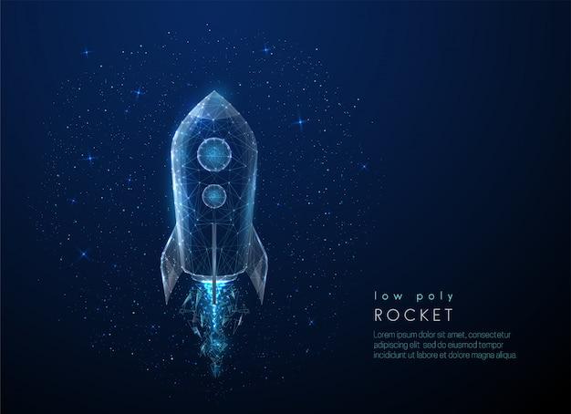 Abstact foguete voando no espaço