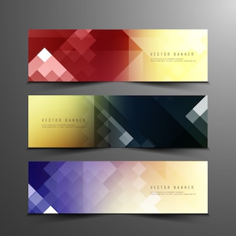 Abstarct banners colorido conjunto