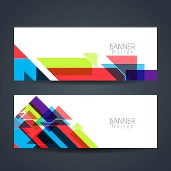 Abstarct banners coloridos e modernos