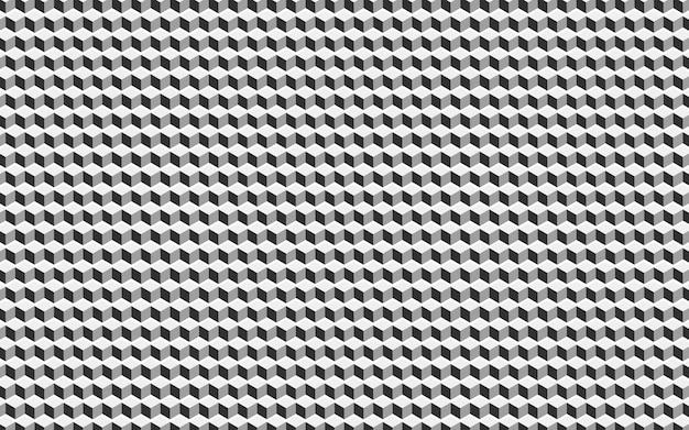 Abstração geométrica com célula de cubo.